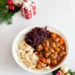 veganes Rotwein Gulasch