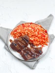 Steak mit Rohkost-Salat